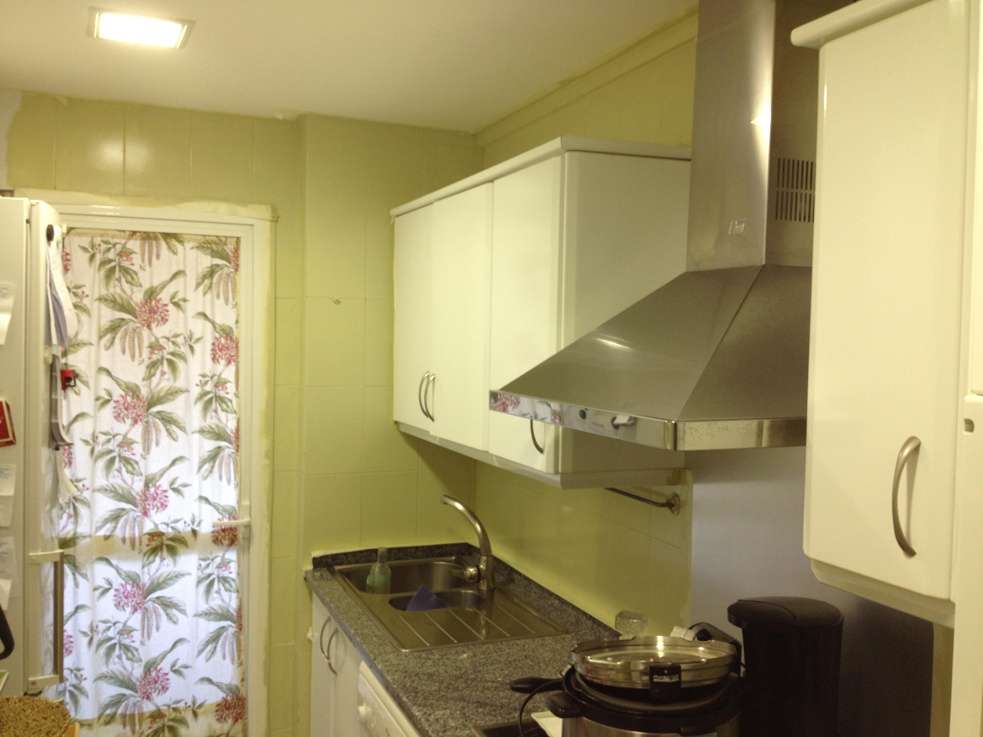 Un antes y un despu s de mis pinitos congdepaula - Banos con azulejos pintados ...